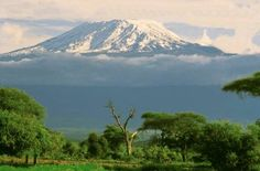 Africa Tanzania Mount Kilimanjaro | The structure is composed of 3 volcanoes: Kibo (19,340 feet), Mawenzi ...