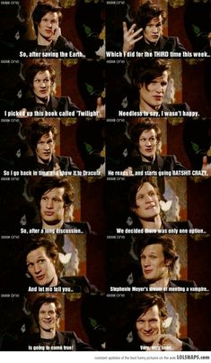 Matt Smith/Doctor Who on 'Twilight'