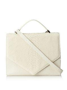 Emily Cho Womens Oversized Triangle Bag, Ivory