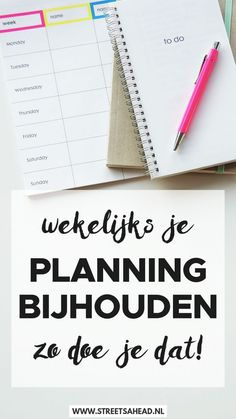 Een planning kun je best maken, maar al snel klopt er niets meer van. Wat nu? De oplossing daarvoor is: je planning bijhouden. Lees hoe!