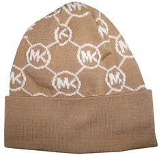 Michael Kors Women s Circle Logo Knitted Beanie Hat e7d5098e24bb