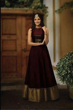 Half Saree Designs, Lehenga Designs, Blouse Designs, Churidar Designs, Dress Designs, Anarkali Gown, Saree Dress, Black Anarkali, Anarkali Suits