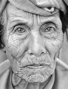 All i see if history embedded into her eyes and the lines on her beautiful face.