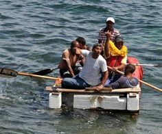 12/26/13 - 44 Cuban freedom rafters arrive in Honduras - Five women and 39 Cuban men arrived in two small boats at the port of Sangrelaya on the north coast of Honduras - breathing freely is a great Christmas present.