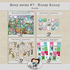 SoMa Design: Honey Bunny Bundle Honey Bunny, Digital Scrapbooking, Kit, Design, Design Comics