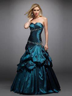 Sumptuous-Dark-Green-Elastic-Satin-Strapless-Sleeveless-Ball-Gown-Quinceanera-Dress-SD3439.jpg 900×1,200 pixels