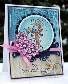 Therese Broman for Heartfelt Creations using  Sunny Day paper collection and  Butterfly Medley stamp set, Feb. 2013   To A Beautiful You