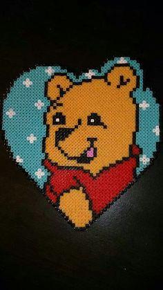Winnie perler beads by Nadja Jensen /  Pattern: http://www.pinterest.com/pin/374291419002859319/