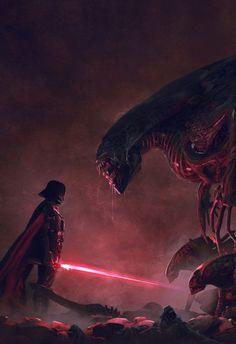 Star Wars vs. Aliens nas incríveis ilustrações de Guillem H. Pongiluppi. Who will win?
