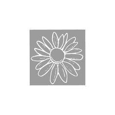 Stempel, Margerite, 5x5 cm von eckstein-kreativ Materialshop auf DaWanda.com
