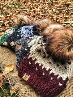 Ravelry: Winterfell Fairisle Beanie pattern by Smeeny Beanie Knits Crochet Beanie Pattern, Knit Or Crochet, Crochet Hats, Fair Isle Knitting Patterns, Hat Patterns, Beanie Knitting Patterns Free, Fair Isle Pattern, Lion Brand Wool Ease, Faux Fur Pom Pom