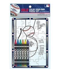 Loving this St. Louis Cardinals Color Your Own Puzzle Set on #zulily! #zulilyfinds