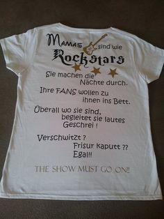 Rockstar Mama Show Must Go On, Funny Stuff, T Shirts For Women, Kids, Clothes, Funny, Hair Makeup, Funny Things, Young Children