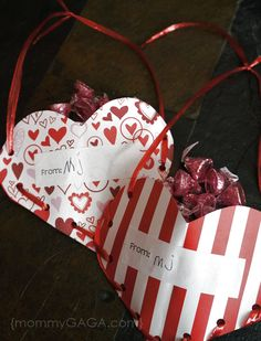 Valentine's Day Treat Bags Crafts for Kids DIY