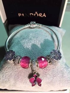 50% OFF!!! $199 Pandora Charm Bracelet Purple. Hot Sale!!! SKU: CB01654 - PANDORA Bracelet Ideas