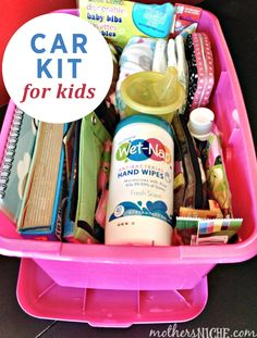 Make sure you're always prepared -- even on the road -- with this Car Kit for Kids! Check out the essentials needed to put in it by clicking here!