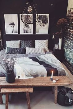 Main reason we love industrial bedroom decor is harmony between big space and coziness. Know more about it! Main reason we love industrial bedroom decor is harmony between big space and coziness. Know more about it! Industrial Home Design, Vintage Industrial Decor, Industrial House, Home Interior Design, Industrial Bedroom Decor, Warm Industrial, Kitchen Industrial, Industrial Architecture, Industrial Interiors