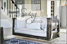 DIY Crib Mattress Porch Swing