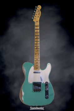Fender Custom Shop Limited Edition 1959 Heavy Relic Telecaster - Celadon Green, Heavy Relic   Sweetwater.com