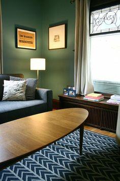 """Alison's """"Vintage-Modern Blue & Grey"""" Room"""