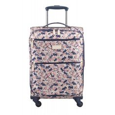 Cherry+Blossom+Dog, Small+Cabin+Size+Soft+Case+4+Wheel+Suitcase
