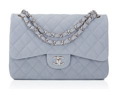 A huge selection of beautiful, rare Chanel bags is now for sale at Moda Operandi! Pink Gucci Purse, Blue Purse, Gucci Purses, Chanel Handbags, Chanel Bags, Chanel Chanel, Chanel Caviar, Quilted Shoulder Bags, Blue Shoulder Bags