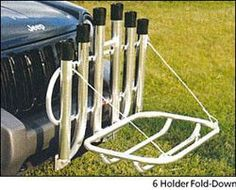 Rod Rack 6 Receiver Mount Cooler Basket Fish N Mate by Anglers