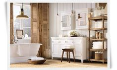 The bathroom I want from Restoration Hardware