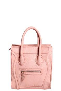 Jordyn Leather Look Zip & Stitch Bag