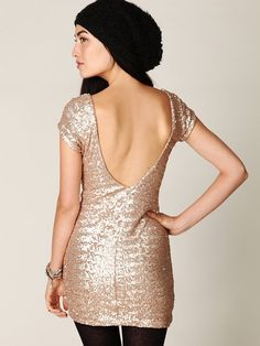 $168 - S-L -Backstage Sequin Fever Bodycon Dress at Free People Clothing Boutique