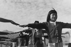 Calisthenics - Manzanar War Relocation Center No. 2, by Ansel Adams