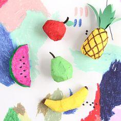 DIY Papier-Mâché Fruit Ornaments at Design*Sponge