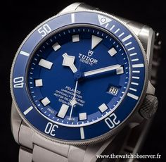 Baselworld 2015 montre de plongée Tudor Pelagos bleue