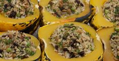 Wild Rice Stuffed Carnival Squash - Nutrition Studies Plant-Based Recipes
