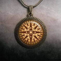 Steampunk Mariner's Compass pendant Compass by MoonGardenDesigns, $12.50