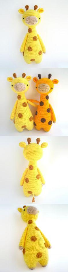 Tall Giraffe With Spots Amigurumi Pattern by Little Bear Crochets #littlebearcrochets #amigurumi