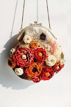 Felt Flower bag placer. by effeminacy on Etsy, $250.00