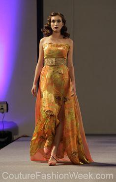 Andres Aquino Semana de Alta Moda Primavera 2013 en New York #SemanaDeModa #Moda #AltaModa #AndresAquino #Estilo #Diseno #Modelo #Vestido #Largo #NewYork