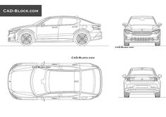 Polestar 2 CAD Block Bloc Autocad, Bmw X7, Pole Star, Volvo Cars, Cad Blocks, Premium Cars, Automobile Industry, Unique Cars, Car Sketch
