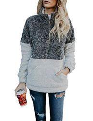 Hiistandd Women Hoodies Sweatshirt Winter Warm Hoodie Zip Up Fleece Hooded Zipper Hoody Outerwear Jacket Coat Long Sleeve Jumper Long Tops Hooded Jumper