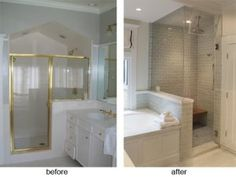 Before And After Pictures Of Remodeled Small Bathrooms bathroom remodel ideas before and after | pinterdor | pinterest