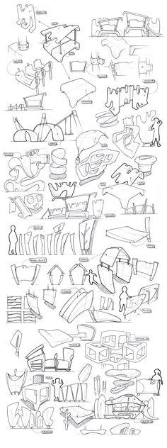 Industrial design sketchbook