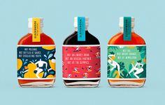 Elderbrook Drinks Packaging Tells Us What It's Not - Food Design Brief - Getrank Juice Packaging, Cool Packaging, Beverage Packaging, Coffee Packaging, Bottle Packaging, Brand Packaging, Packaging Design, Branding Design, Bottle Labels