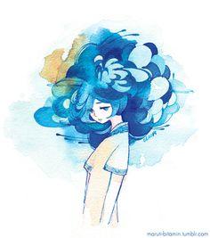 Watercolor Illustration, Watercolor Paintings, Arte Sketchbook, Kawaii Art, Illustrations And Posters, Pretty Art, Aesthetic Art, Love Art, Cartoon Art