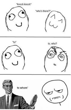Probably the best knock knock joke to aggravate someone