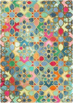 PATTERN  COLOR Tile artwork - Morocco