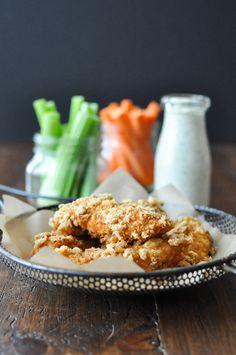 Crispy Buffalo Chicken Fingers Shared on https://www.facebook.com/LowCarbZen | #LowCarb #Snacks #Appetizer #Lunch