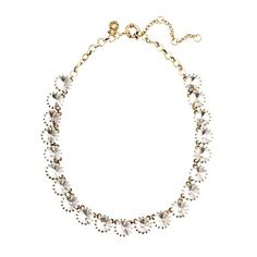 crystal venus flytrap necklace, jcrew.  statement without being overwhelming.