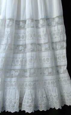 Handmade Antique Lacey Christening Gown2