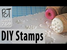 DIY Texture Stamps for Polymer Clay - YouTube